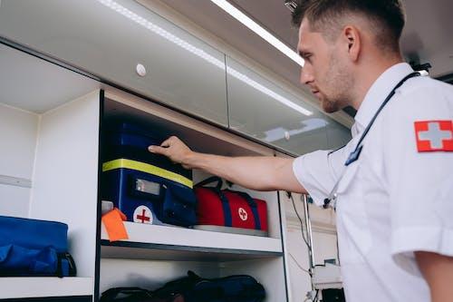Free stock photo of aid, ambulance, bags