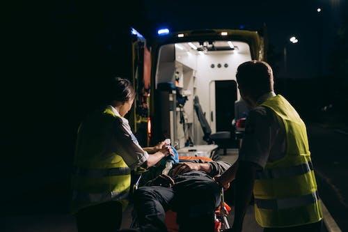 Free stock photo of adult, aid, ambulance