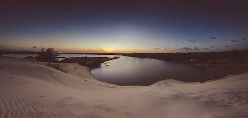 경치, 골든 아워, 광각, 모래의 무료 스톡 사진