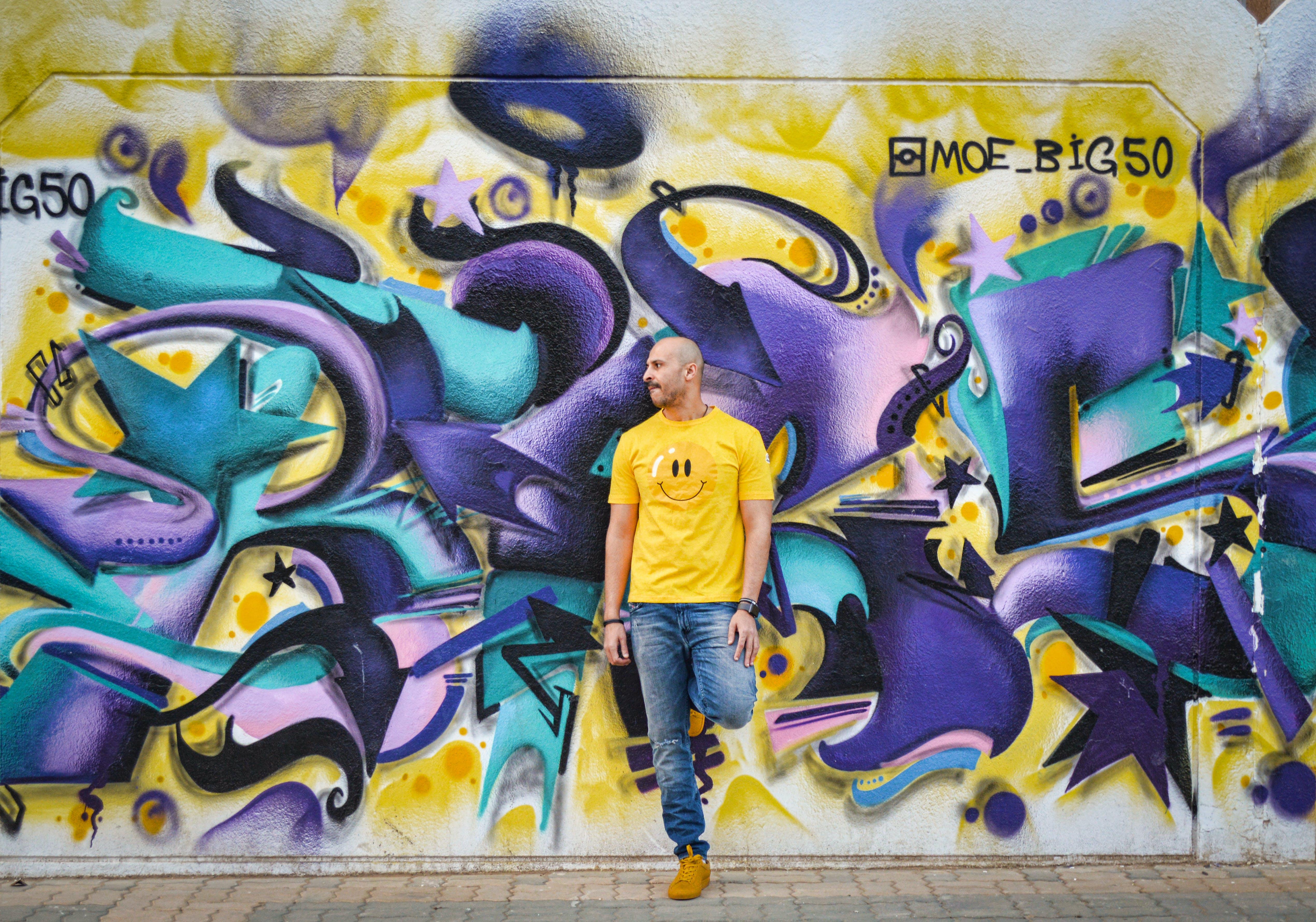 Free stock photo of graffiti, man, model, street
