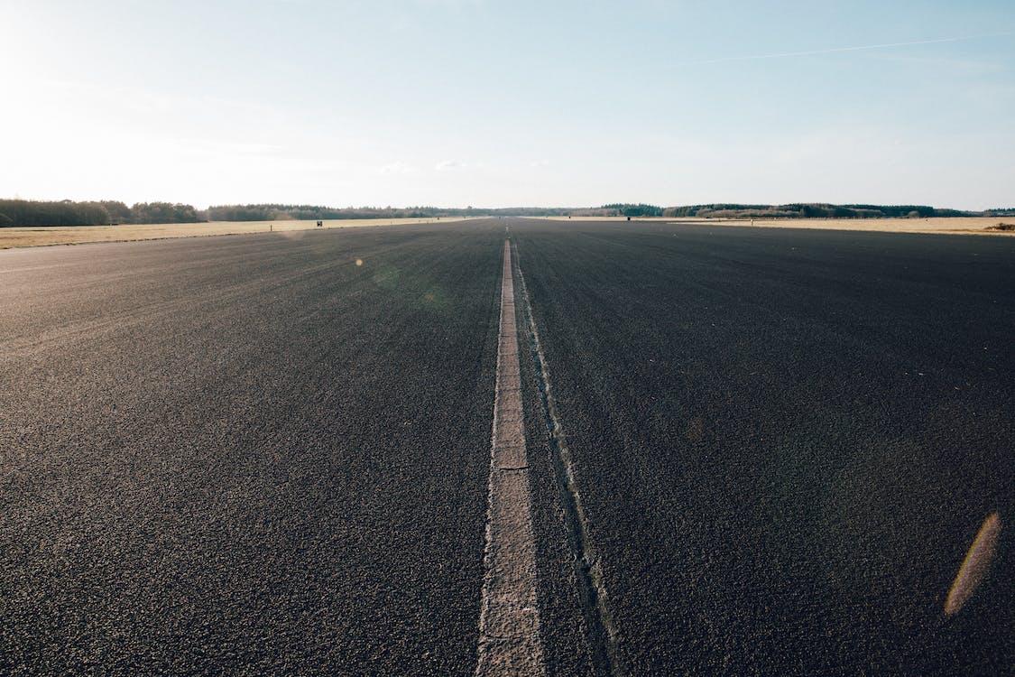 asfalto, autostrada, campo