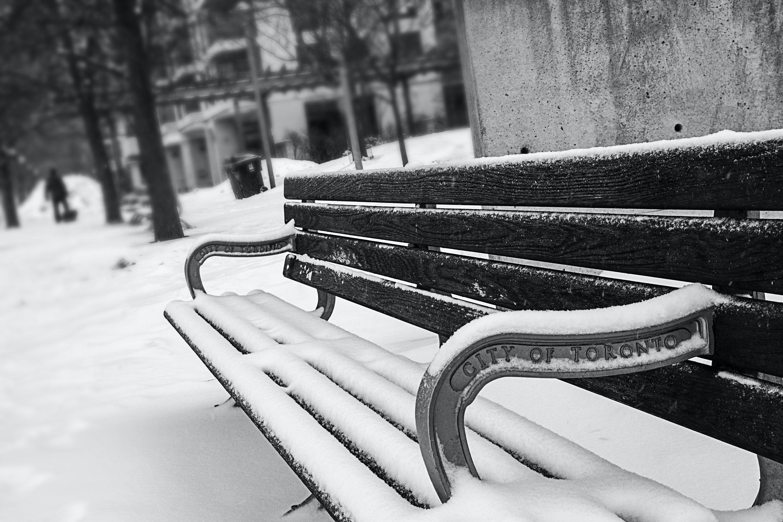 Kostenloses Stock Foto zu kalt, schnee, holz, bank