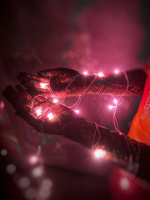 Бесплатное стоковое фото с гирлянды, индийский, легкий, мехенди