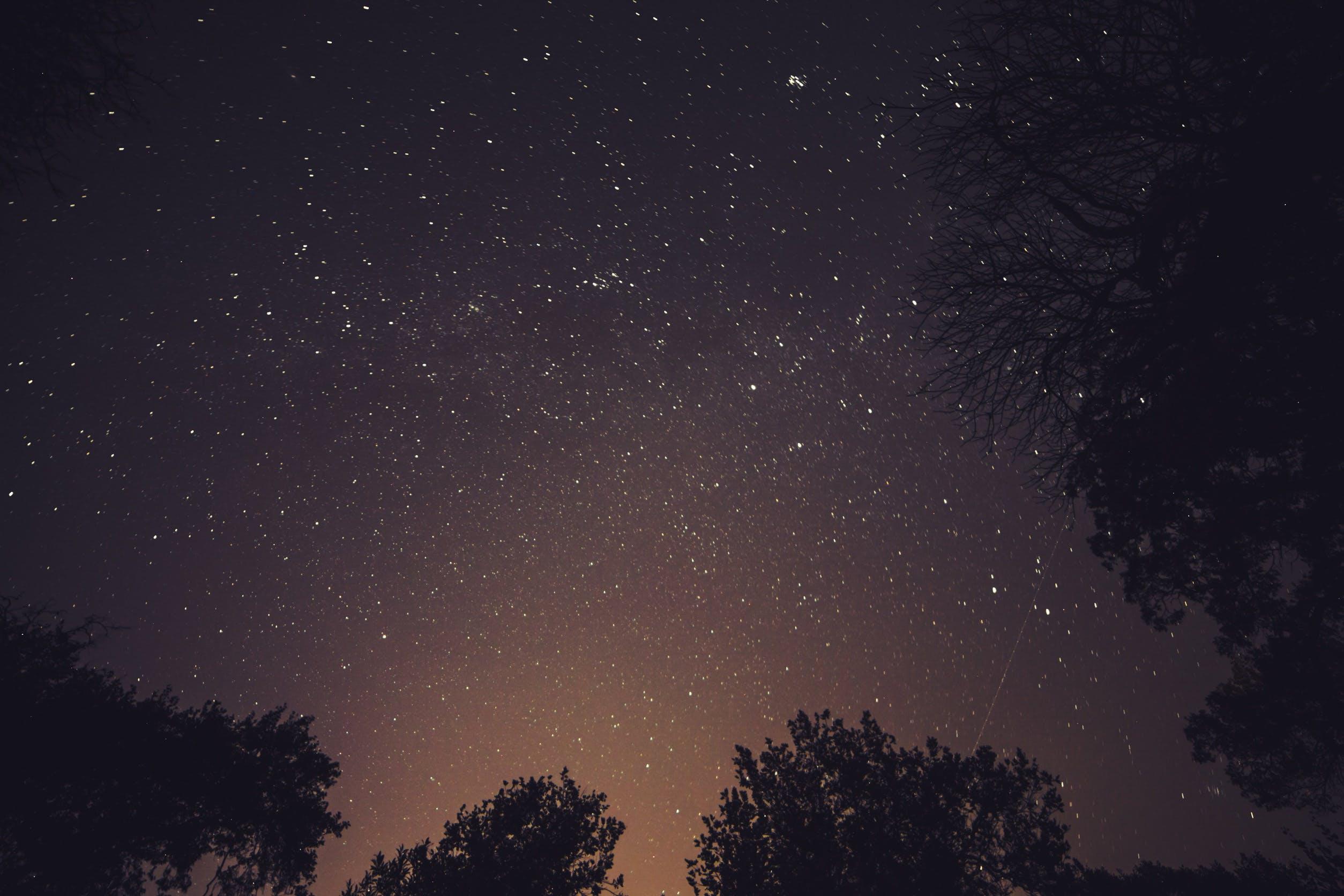 Kostenloses Stock Foto zu dunkel, galaxie, milchstraße, nacht