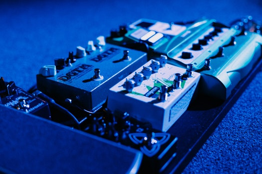 Free stock photo of concert, guitar, stage, pedals