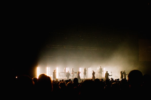 Free stock photo of lights, concert, band, worship