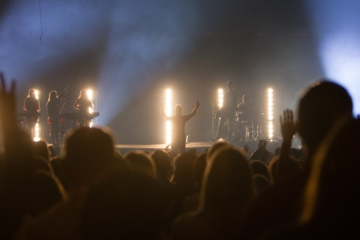 Free stock photo of concert, band, backlight