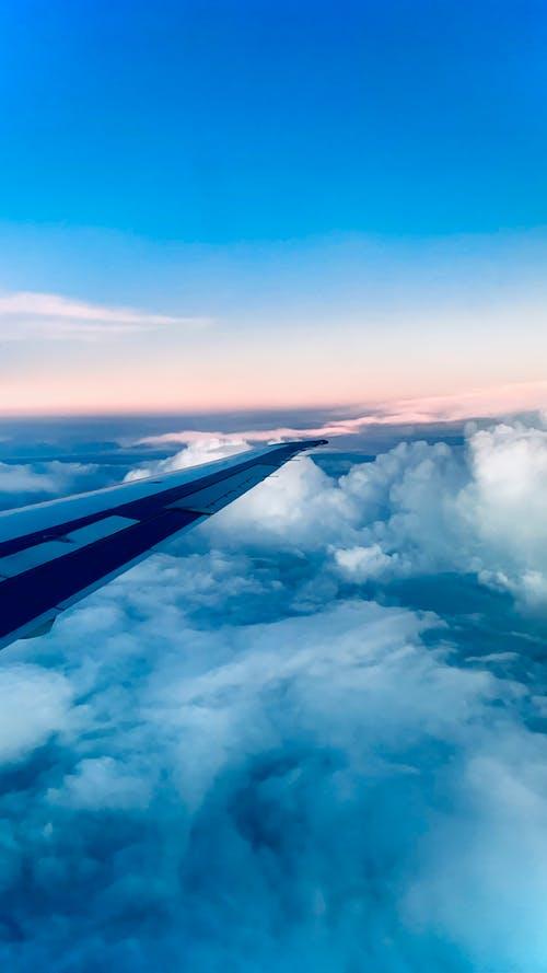 Free stock photo of aeroplane, air travel, airplane window
