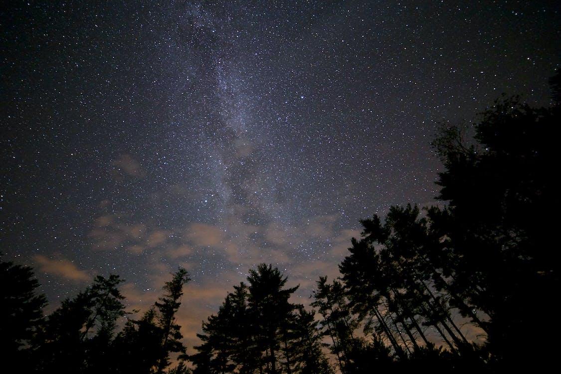 กลางคืน, กาแล็กซี, ดวงดาว