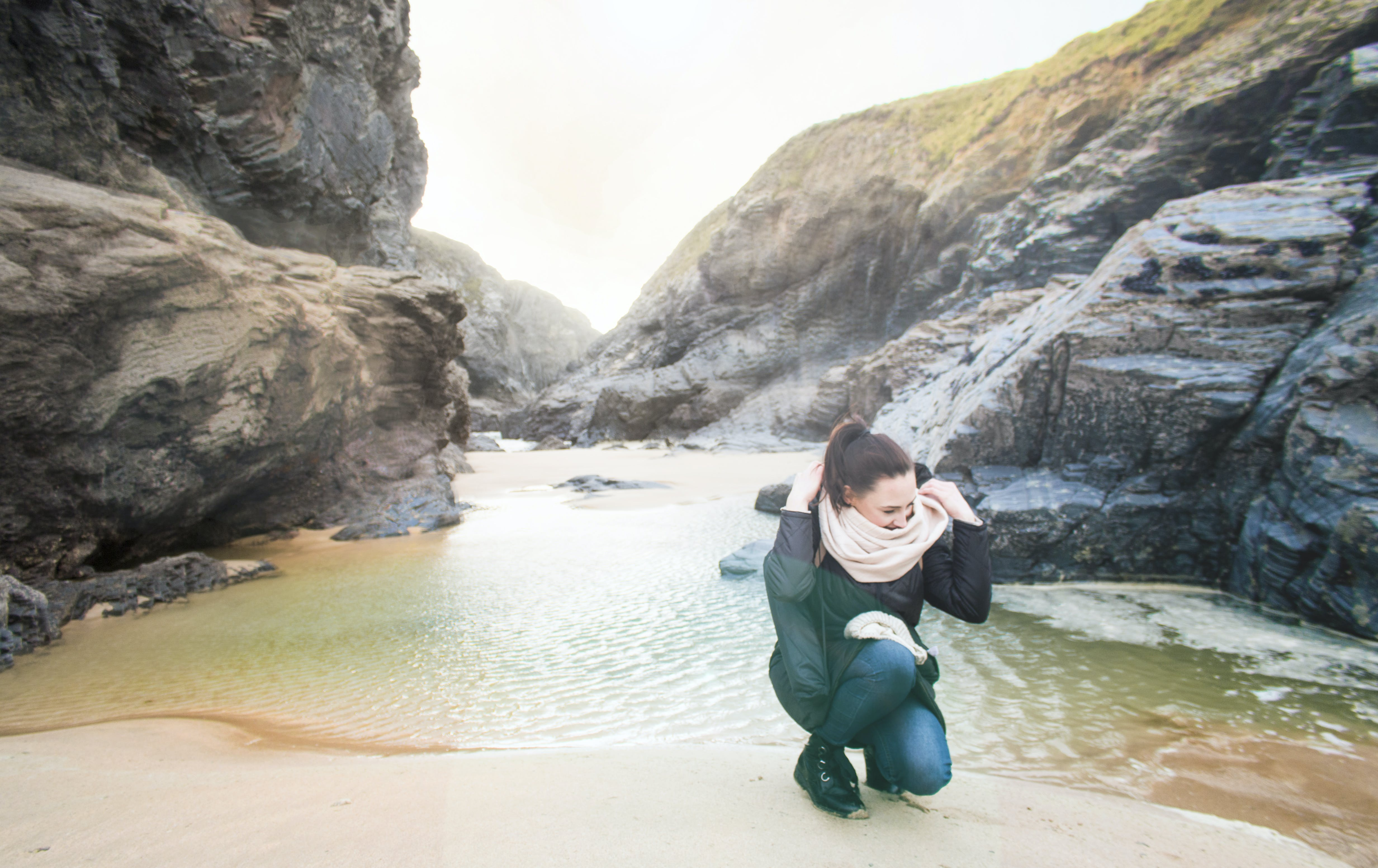 Photo of Woman at the Seashore