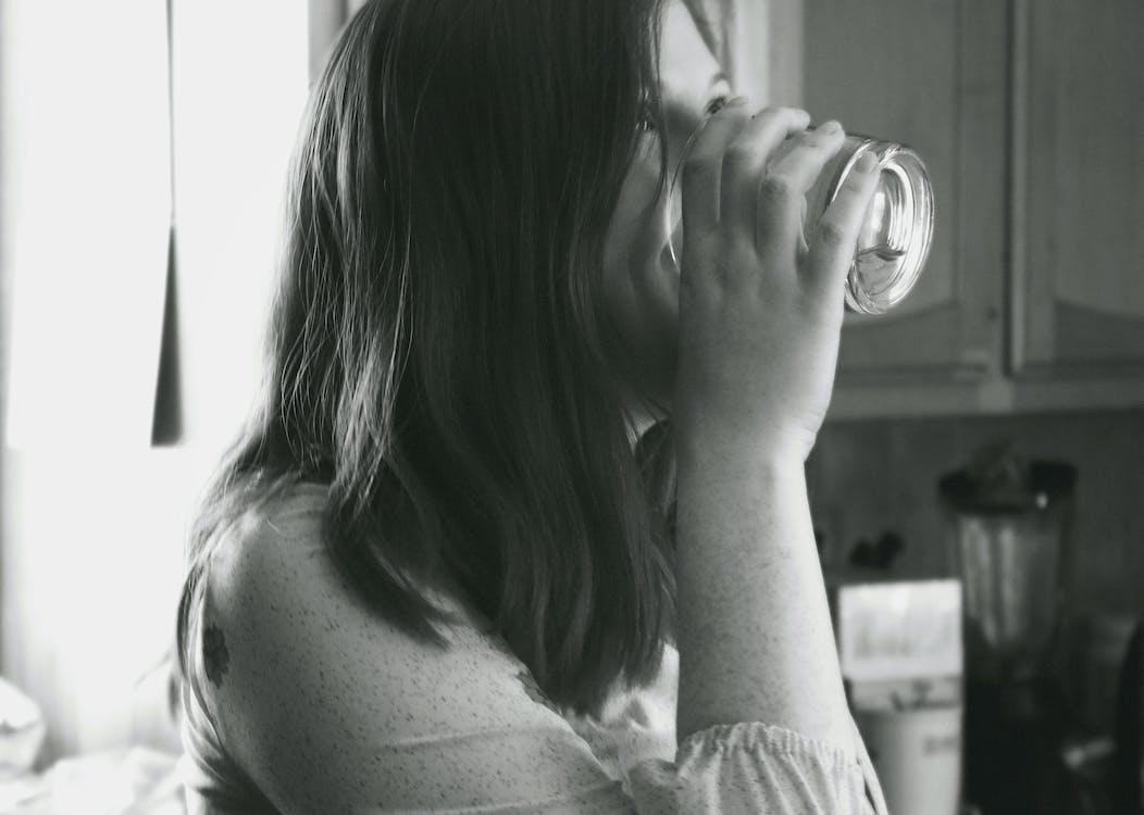 acqua, bevanda, bevendo