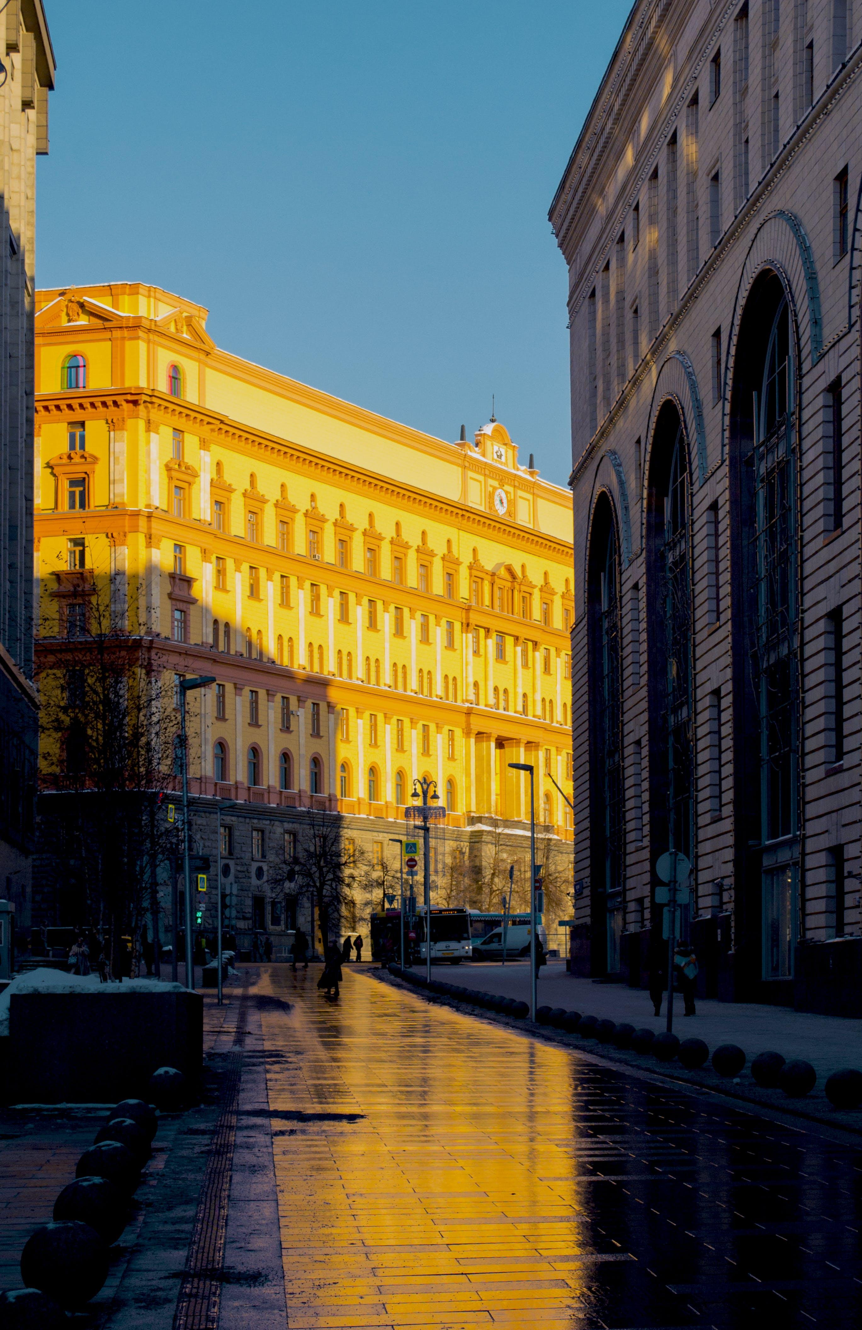 Free stock photo of build, moscow, rain, street