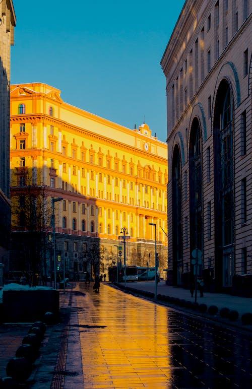거리, 건축하다, 겨울, 모스크바의 무료 스톡 사진