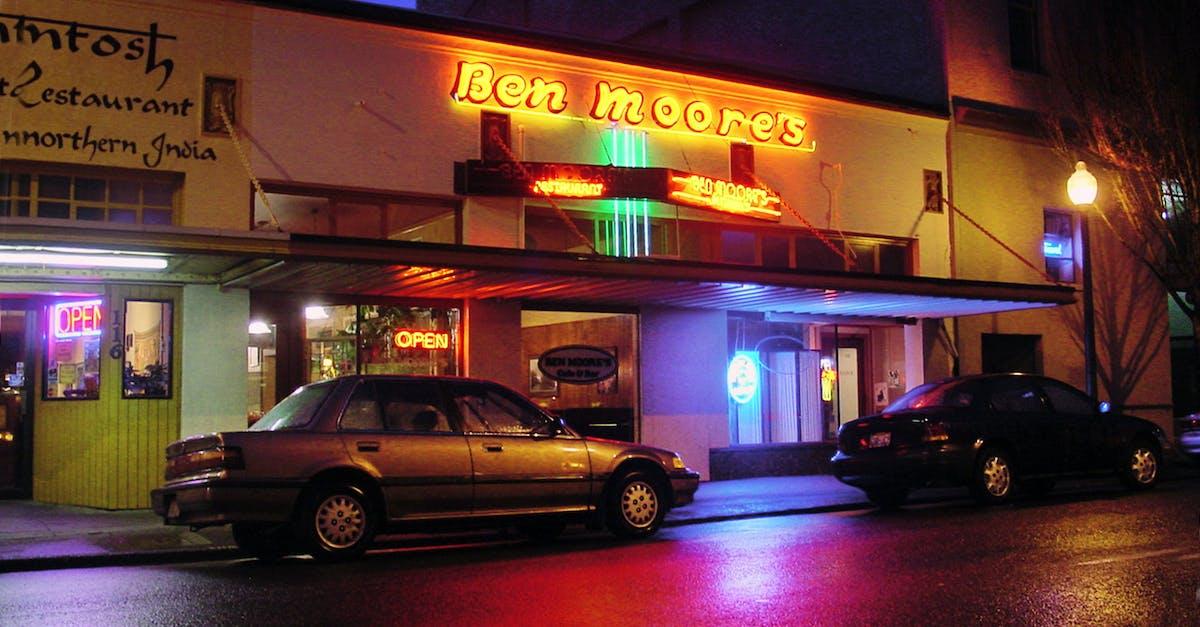 Free stock photo of Night rain street neon