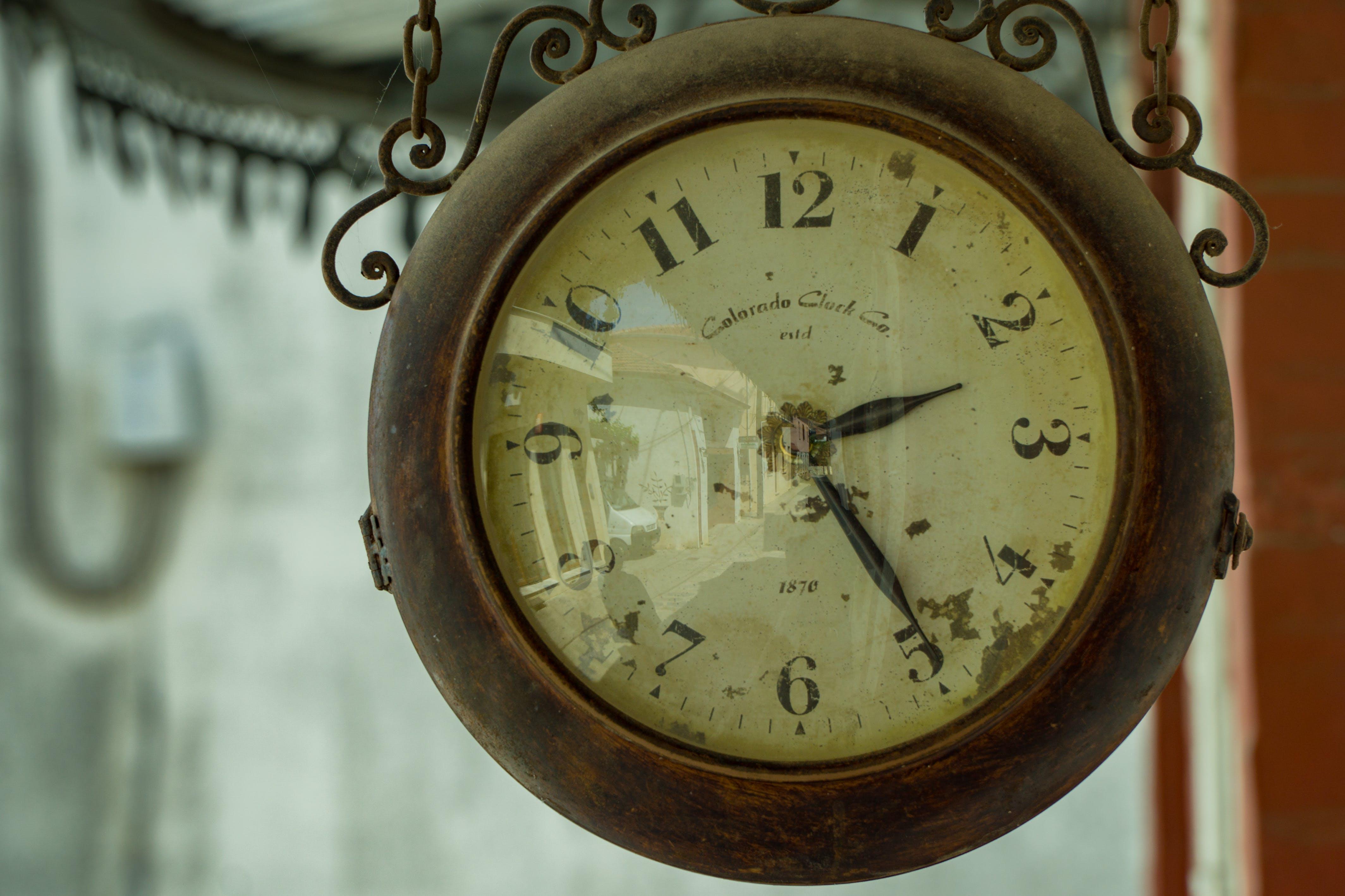 White Train Rail Clock
