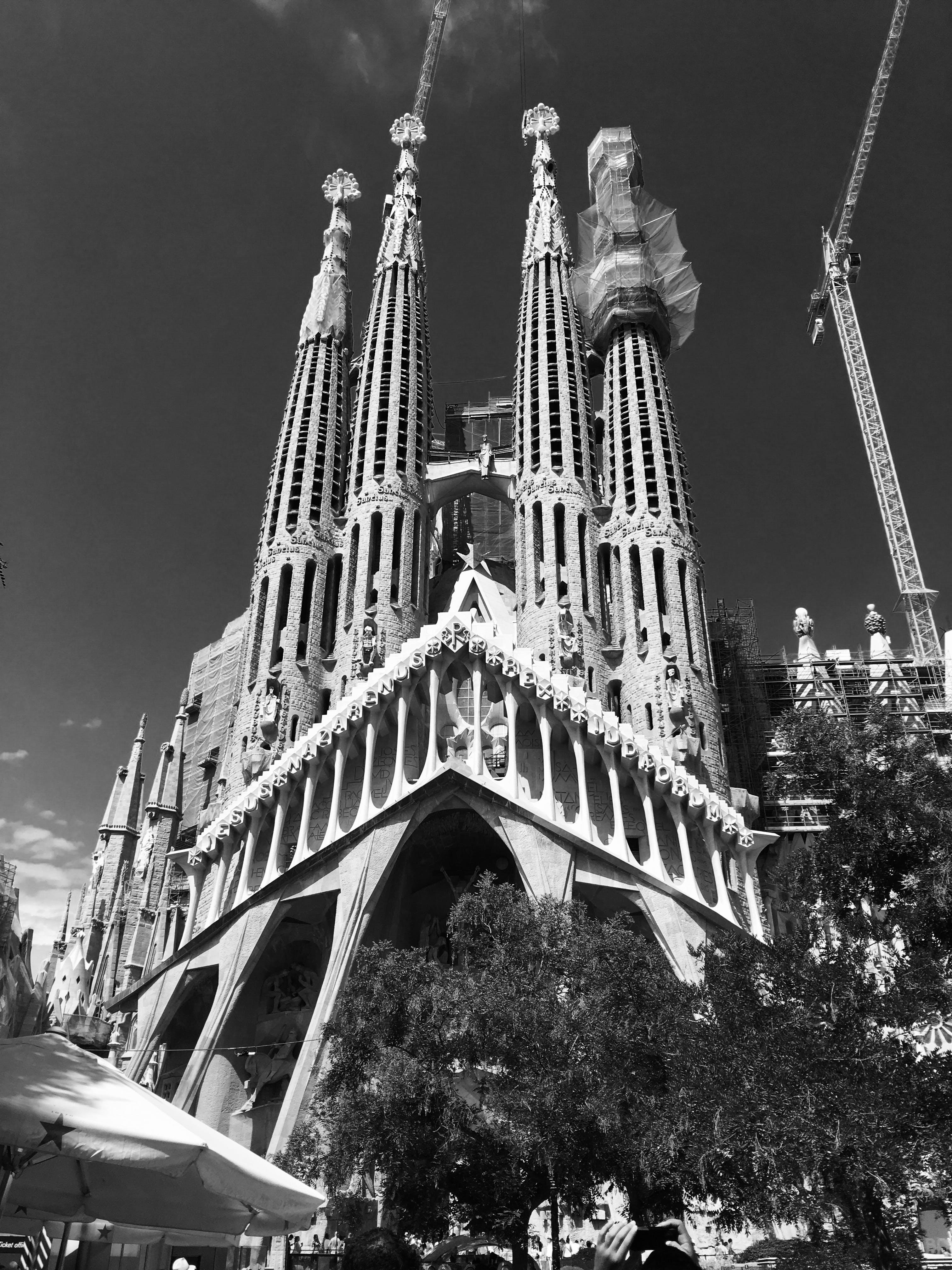 Free stock photo of architecture, black and white, monochrome