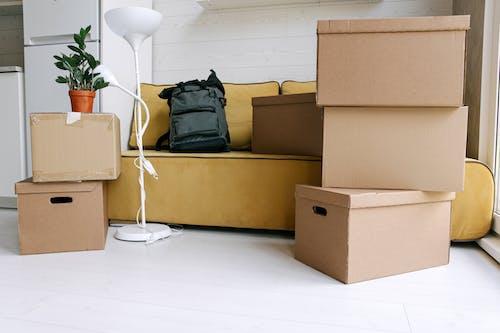 Gratis lagerfoto af flytter ind, kasser, nyt hjem