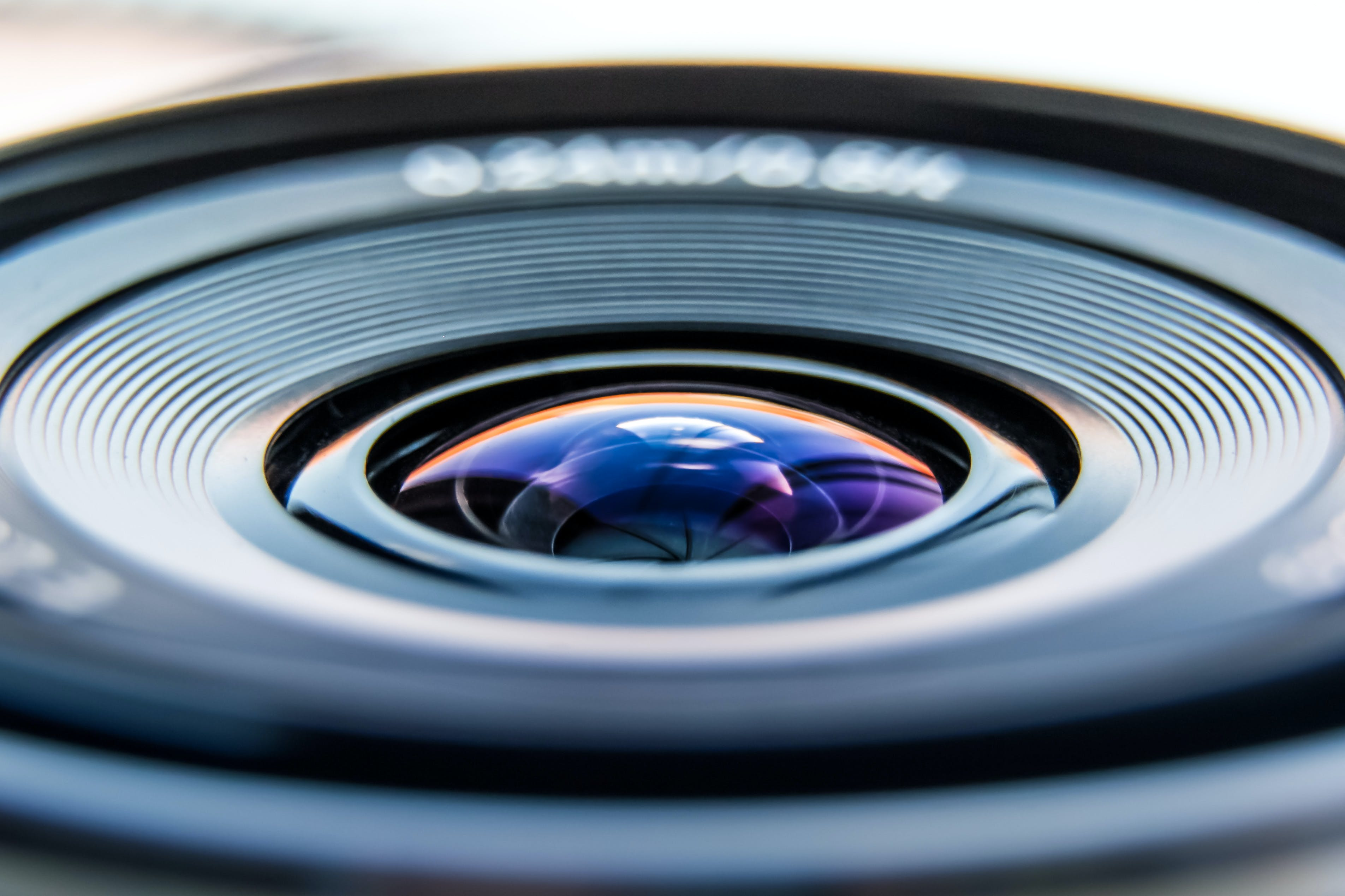 Black Camera Zoom Lens in Close-up Photography