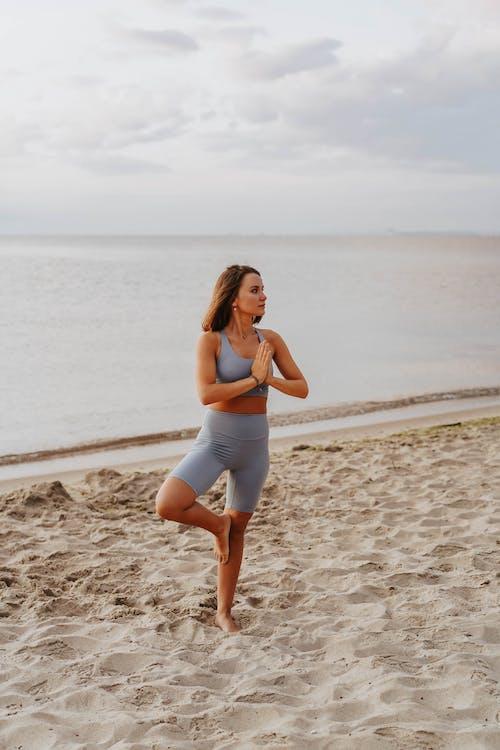 Free stock photo of beach, female, health