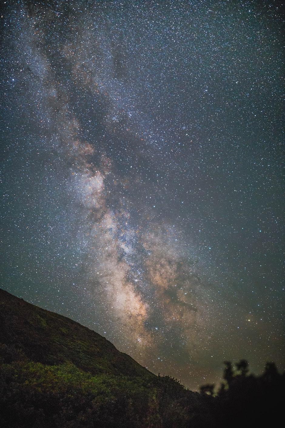 galaxy, milky way, night