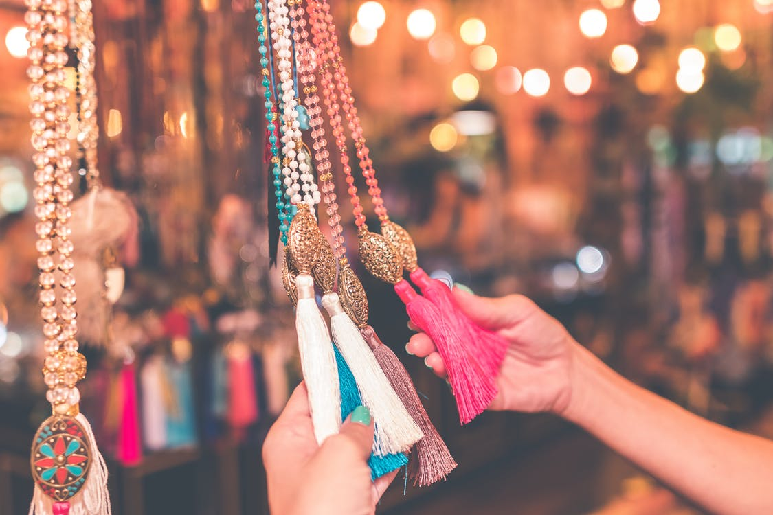 Aksesuarlar, alışveriş yapmak, asılı