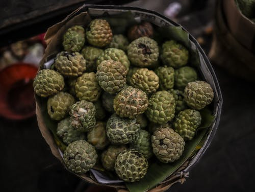Green Round Fruits