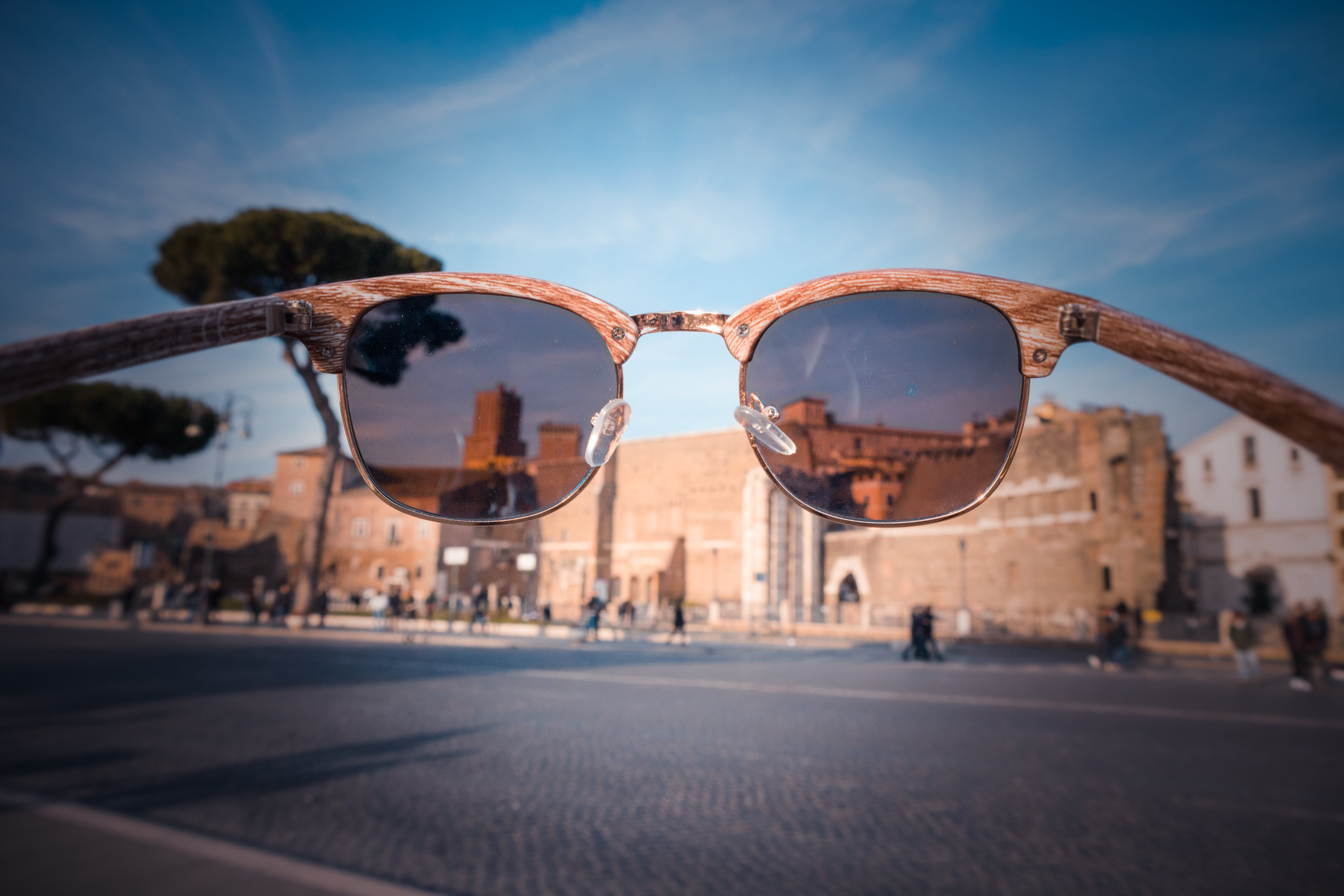 Sunglasses View Brown Building