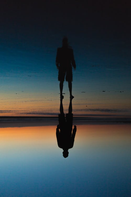 Reflection of Person on Water