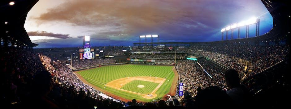 Baseball Field Fisheye Lens Photo