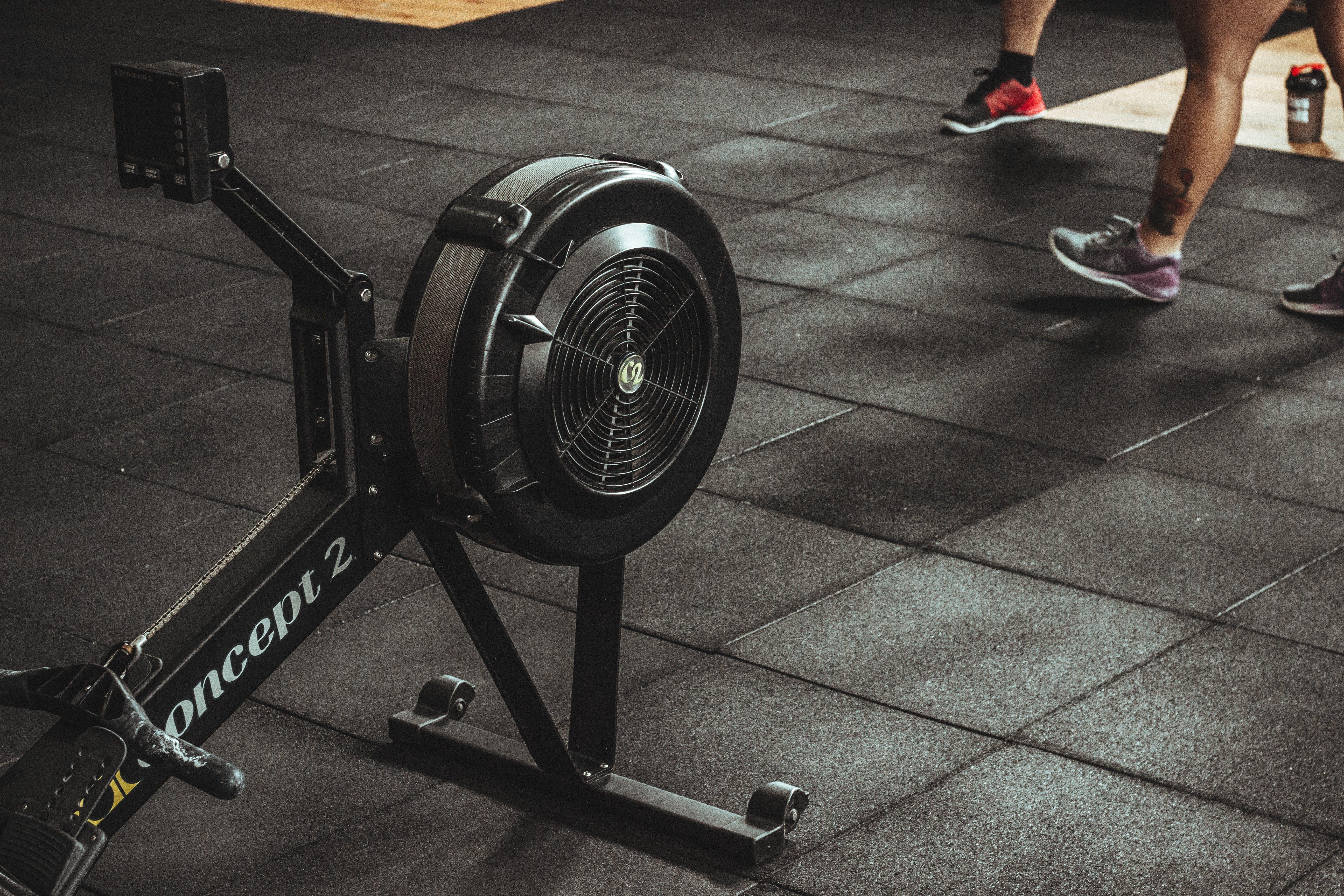 Black Exercise Machine