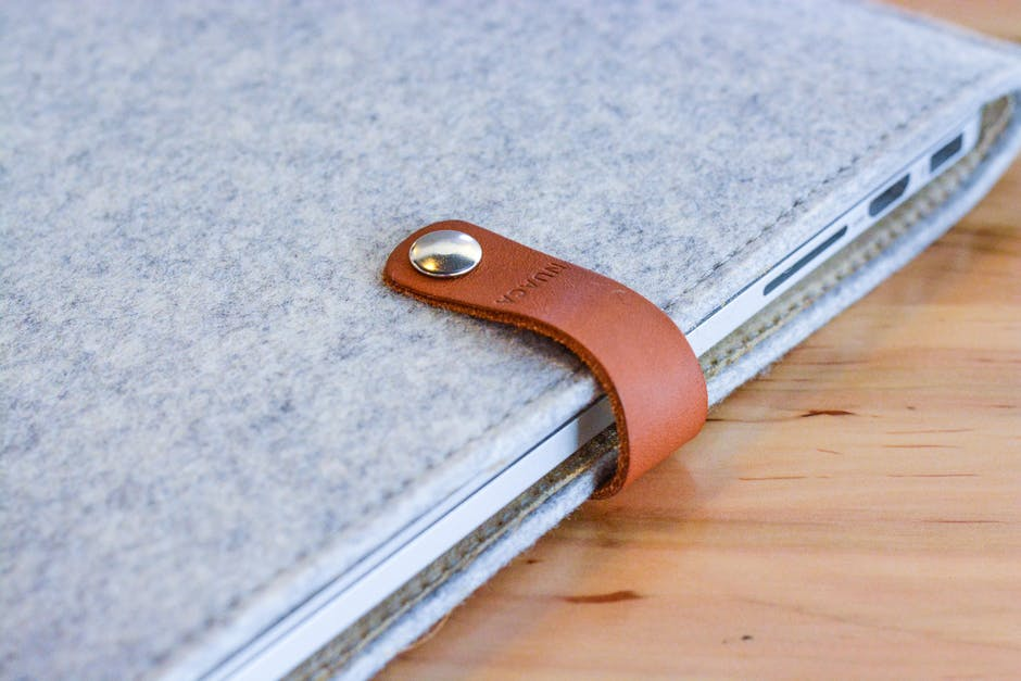 Closed Grey Leather Case