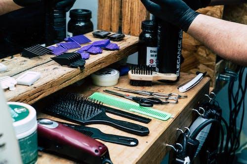 刷子, 剃刀, 剪刀, 專注 的 免费素材照片