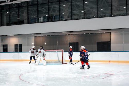 Foto stok gratis arena es, atlet, bermain