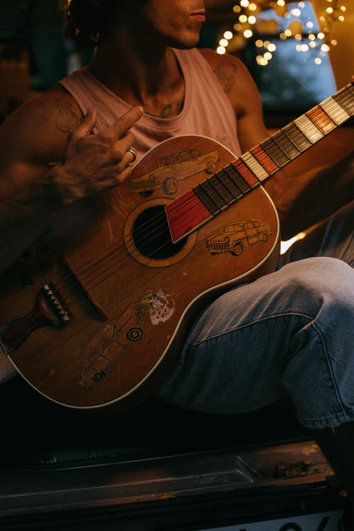 Free stock photo of 4 people, acoustic, acoustic guitar