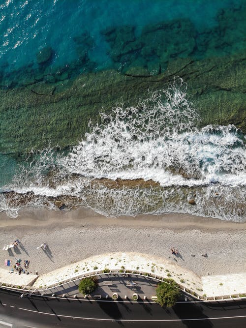 Aerial View of Beach in Italy
