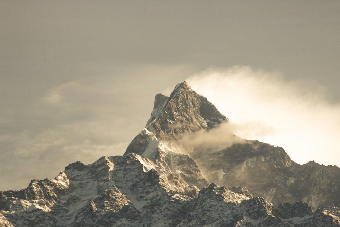 Fog Covered Mountain Wallpaper
