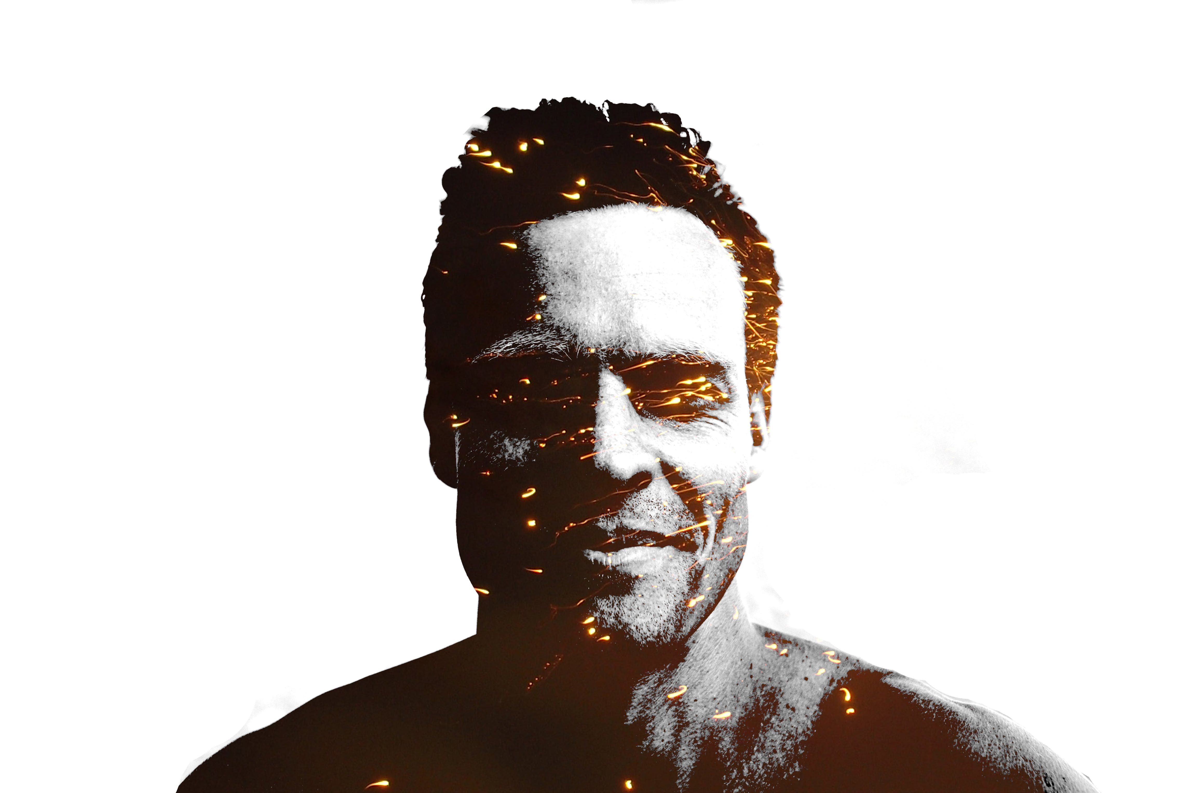 Free stock photo of man, happy, smiling, double exposure