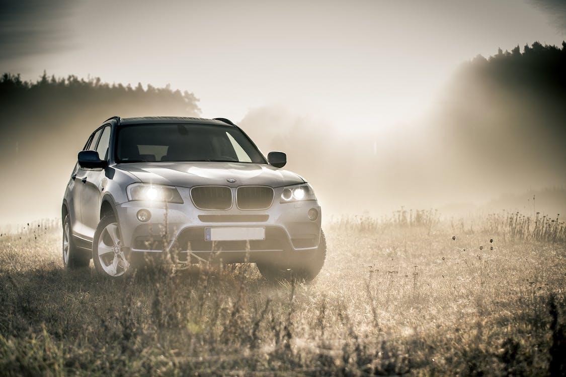 auto, automobil, mlha