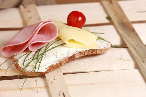Kostnadsfri bild av bröd, mat, ost, skinka