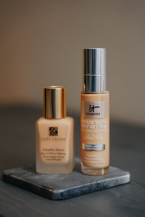 Close-Up Shot of Two Makeup Foundations