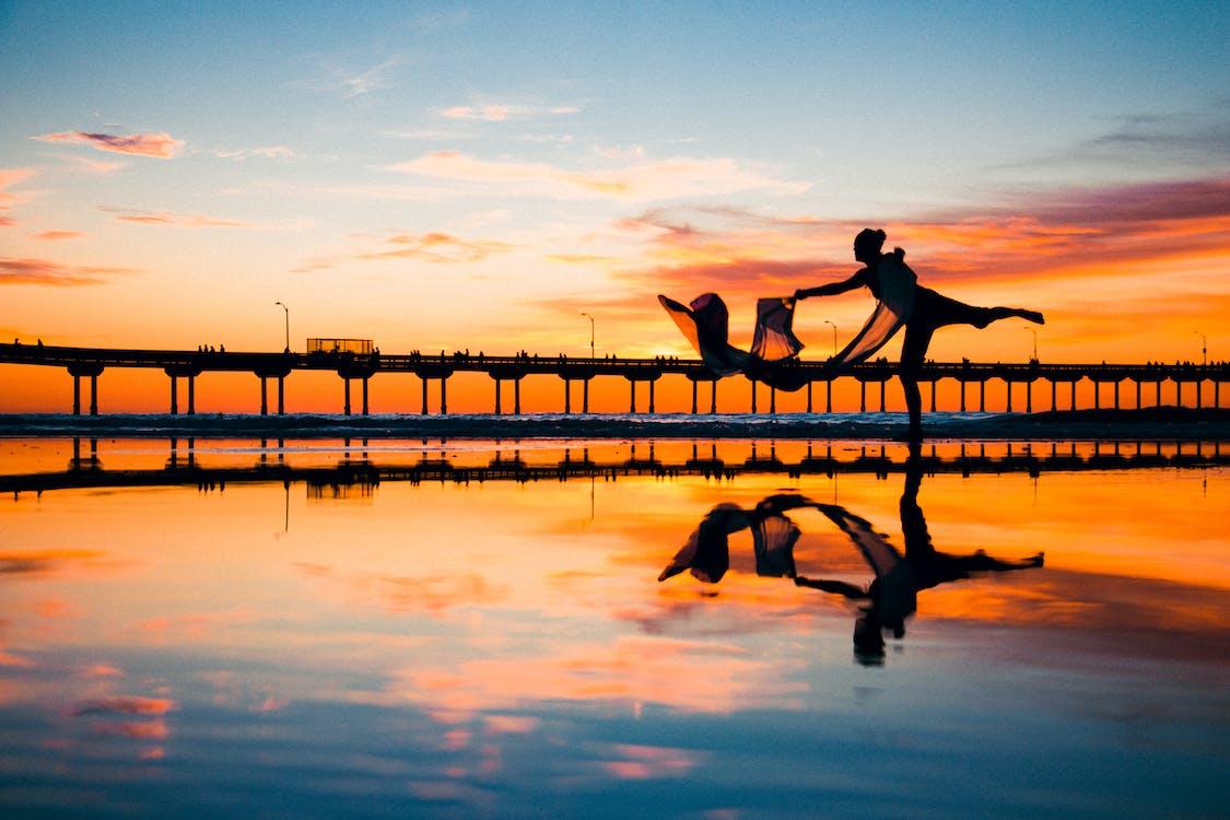 Ilmainen kuvapankkikuva tunnisteilla auringonlasku, heijastukset, hiekkaranta