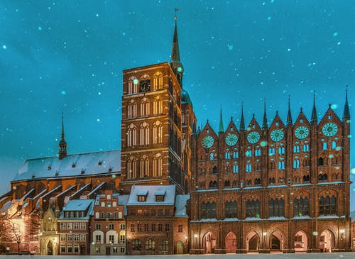 akşam, antik, Baltık Denizi, bina içeren Ücretsiz stok fotoğraf