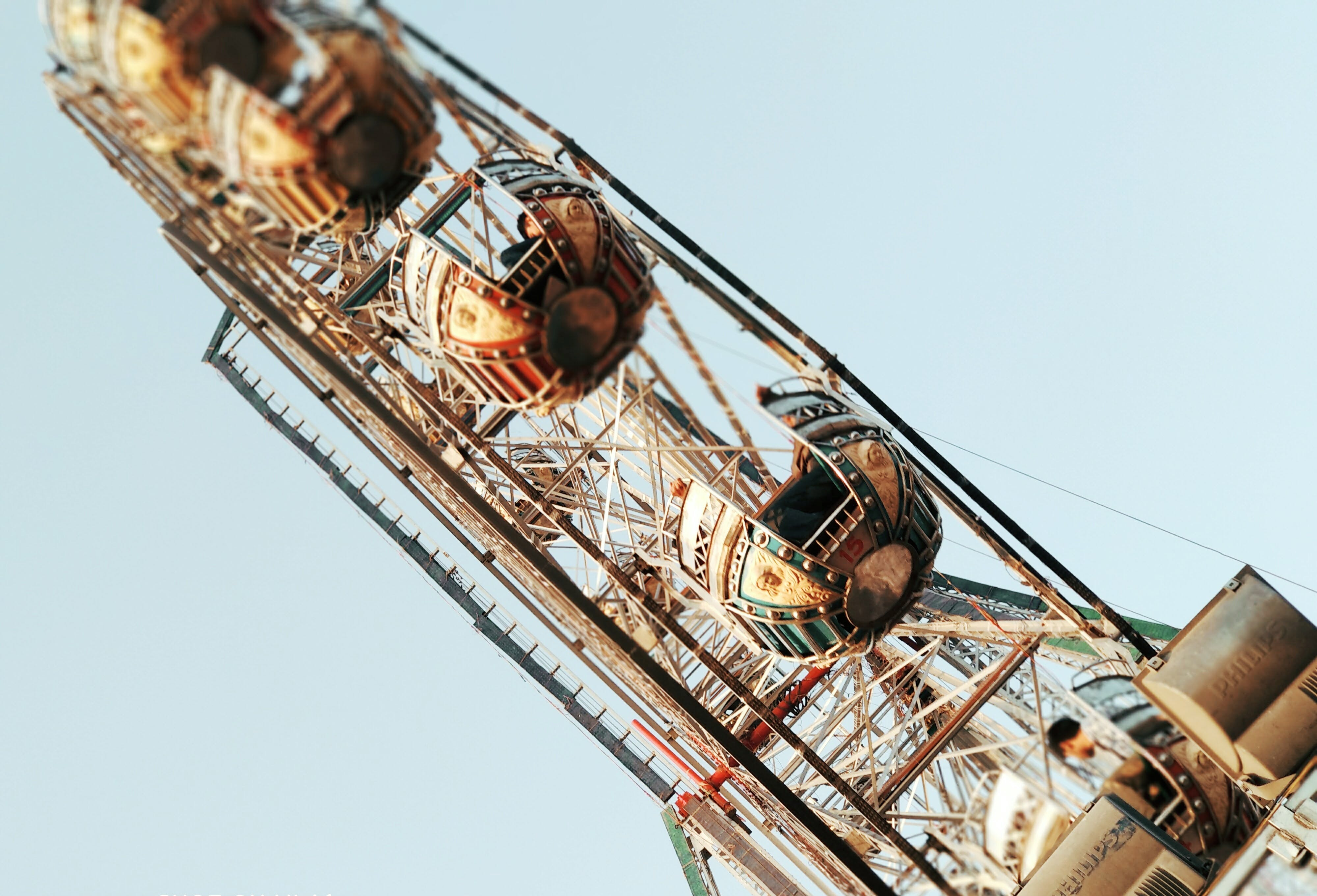 Ferris Wheel in Worms Eye View Photography
