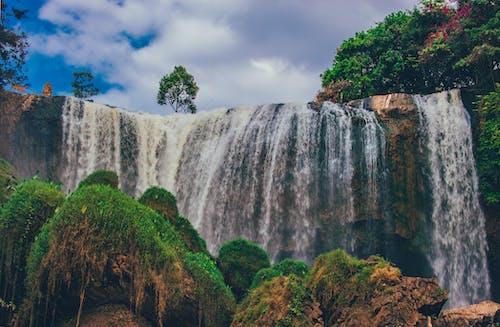 Gratis stockfoto met Bemoste rotsen, cascade, dag, daglicht