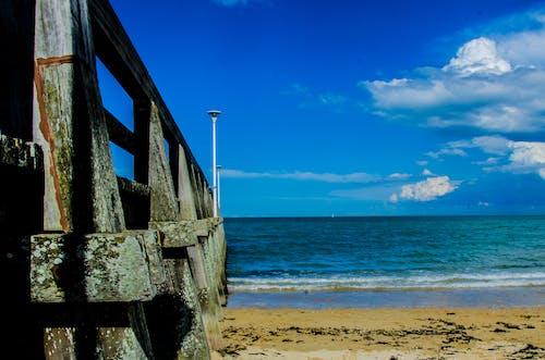 คลังภาพถ่ายฟรี ของ ขอบฟ้า, ชายทะเล, ชายหาด, ท้องฟ้า
