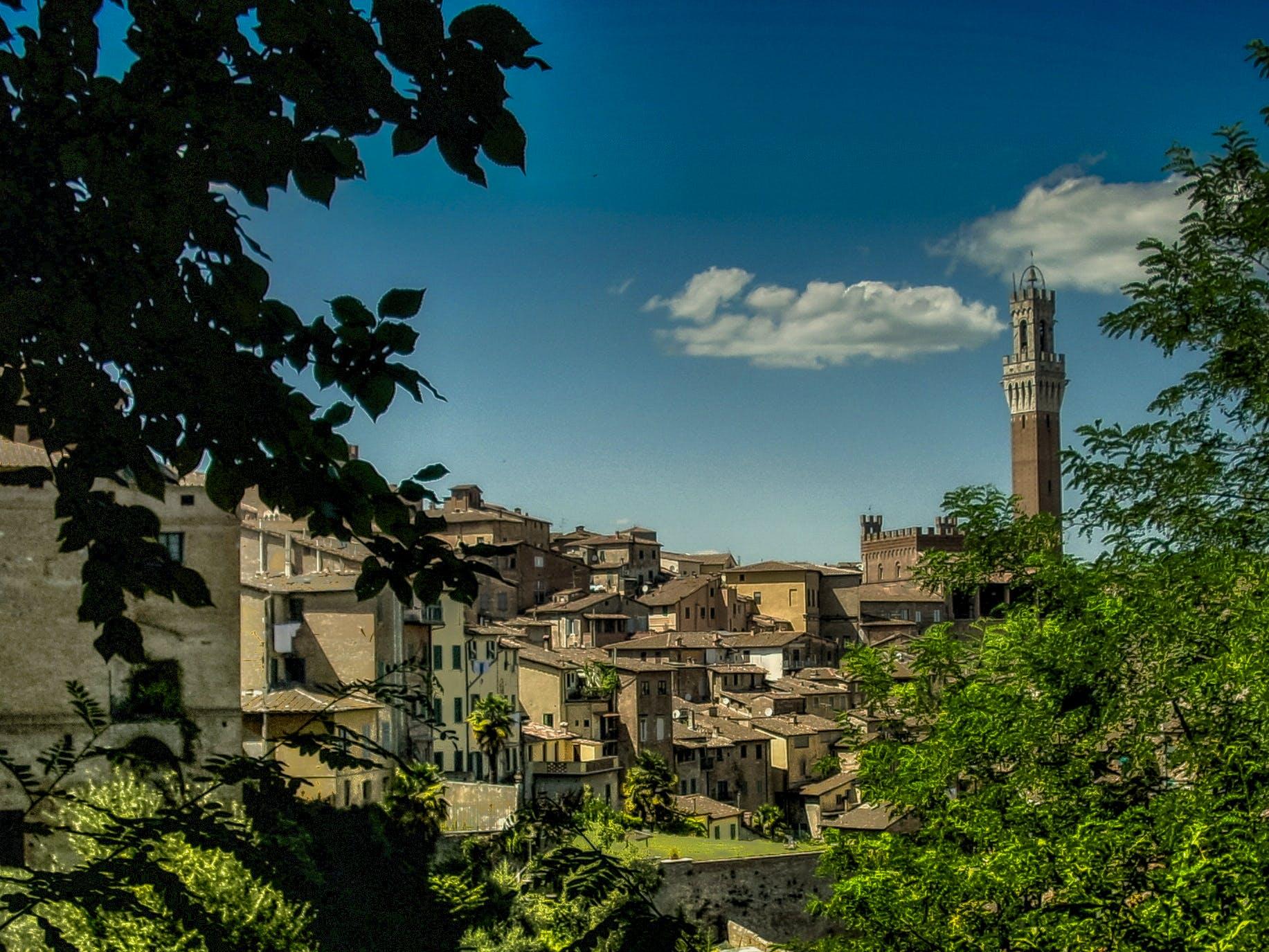 Kostenloses Stock Foto zu dorf, italien, kleinstadt, siena