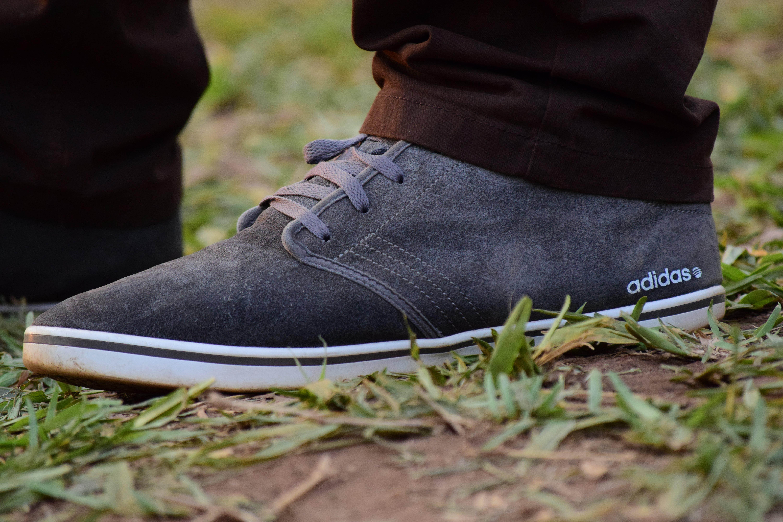 Gray White Adidas Sneaker