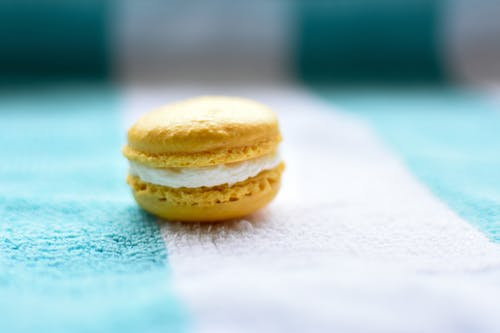 A Macaroons Over a Fabric
