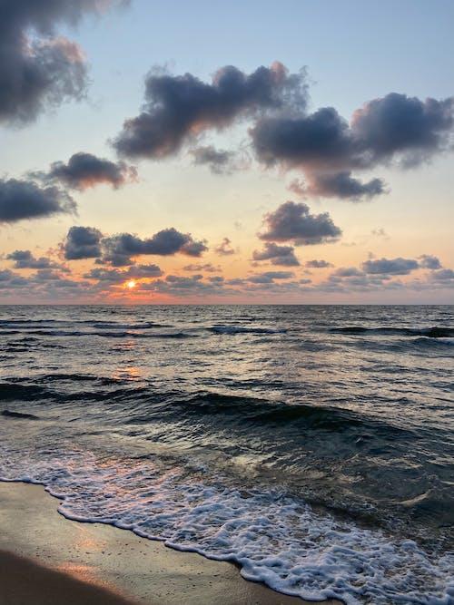 Sea Waves Kissing the Shore