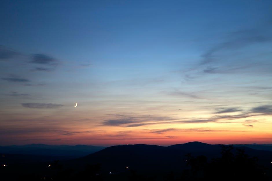 Sunset dusk twilight sky
